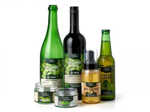 Nachhaltige, selbstklebende Etiketten